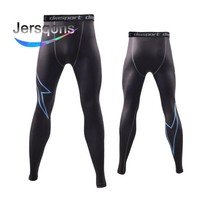 Jersqons Compression Sports Pants Men Running Tights Basketball for Gym Bodybuilding Fitness Skinny Leggings Trousers