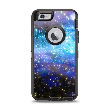 The Glowing Space Texture Apple iPhone 6 Otterbox Defender Case Skin Set