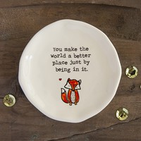 Fox  You  Make  The  World  Better  Giving  Collection  Trinket  Dish  From  Natural  Life