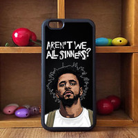 Rare Black J Cole Carbon Quote Custom Print On Hard CASE For iPhone 6/6s, 6/6s+