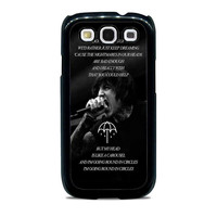 Bring Me The Horizon Happy Song Band Lyric  Samsung Galaxy S3 Case