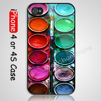 WaterColor Box  Custom iPhone 4 or 4S Case Cover