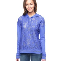 Lace Front Hoodie by Juicy Couture