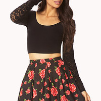 Garden Goddess Pleated Skirt
