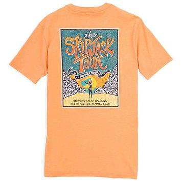 The Skipjack Tour Tee-Shirt in Horizon Orange by Southern Tide