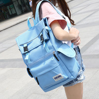 Back To School On Sale Comfort College Hot Deal Stylish Korean Canvas Casual Backpack [8384131079]