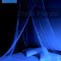 Glow in the Dark Stella Star Bed Canopy - BLUE - Surround your bed with stars!