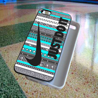 Just Do It, Nike on Aztec Mint art - phone case for iphone 4/4s,5,5s,5c,6. ipod touch 4,5. samsung galaxy s3,s4,s5