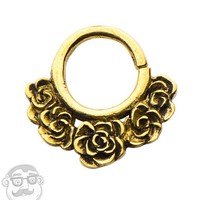 18G Rosebud Brass Septum Ring