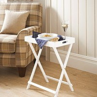 Wooden Tray Table (60cm x 49cm x 32cm) - Matalan