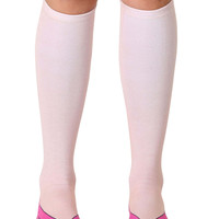 Flip Flops Pale Knee High Socks