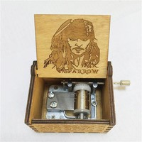 2018 New Hot Jack Sparrow Game of Thrones Philharmonic City Simple Primary Wood Music Box Christmas Adult Child Gift Gift