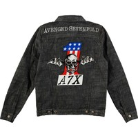 Avenged Sevenfold Men's  AVS Mens Denim Jacket Denim Jacket Denim