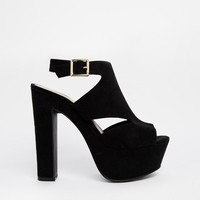 New Look | New Look Sweeper Black Heeled Sandals at ASOS