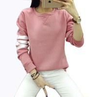 DCCKWQA t shirt women Fall Winter Tops tees t-shirt woman clothes camiseta feminina 2016 new tshirt ropa mujer vetement femme plus size
