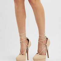 LACE-UP PLATFORM PUMPS