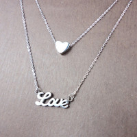 10 OFF  Danity Love Necklace in STAINLESS STEEL by NUIMIE on Etsy