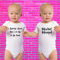 I Solemnly Swear That I'm Up To No Good & Mischief Managed | Twin Set