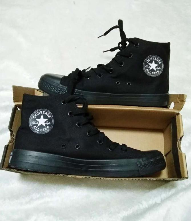 Image of Converse All Star Sneakers canvas shoes for Unisex sports shoes High-tops Black