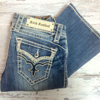 ROCK REVIVAL MAY EB EASY BOOTCUT JEANS