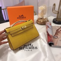 HCXX 19Sep 1065 Hermes Fashion Classic Handle Kelly Minaudiere Bag Size 22-14cm
