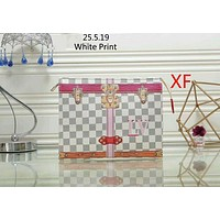 LV Louis Vuitton 2018 trendy women's fashionable clutch bag Messenger bag F-LLBPFSH White Print