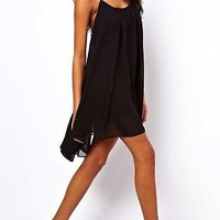 Sleeveless Summer Light Black Dress