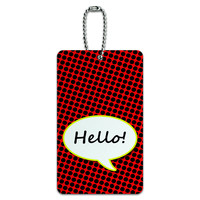 Hello Comic Talk Bubble ID Card Luggage Tag