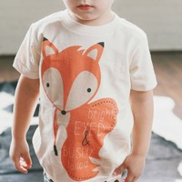 Bright Eyed & Bushy Tailed Unisex Child's Tee - The Printed Palette - Girls' Clothing - Children - Products