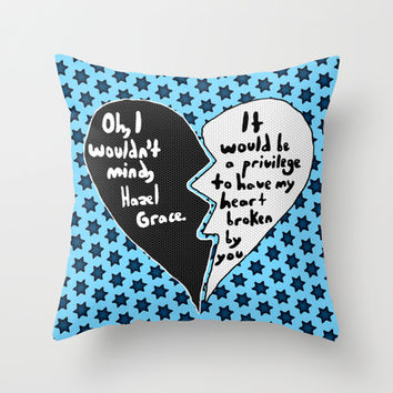 The Fault in Our Stars #9 Throw Pillow by Anthony Londer   Society6