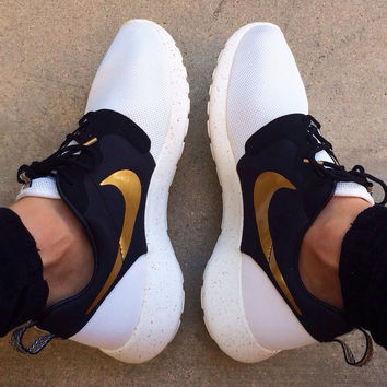 NIKE Women Men Casual Golden Hook Running Sport Shoes Sneakers