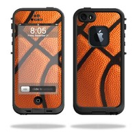 Mightyskins Protective Vinyl Skin Decal Cover for LifeProof iPhone 5/5s/SE Case fre Case wrap sticker skins Basketball