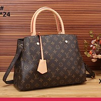 LV Bag Louis Vuitton Print Shoulder Bag Handbag Crossbory Shopping Bag Coffee Print