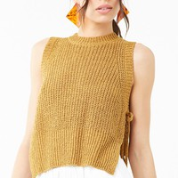 Split Sweater-Knit Tank