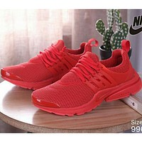 NIKE AIR PRESTO Men's and Women's Wild Sports Running Shoes F Red