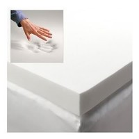 DreamDNA Gel Infused Queen Size 2 Inch Thick, Visco Elastic Memory Foam Mattress Bed Topper Made in the USA