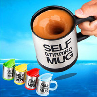 5 Color Automatic Coffee Mixing Cup 350ml Stainless Steel Self Stirring Electric Coffee Mug Thermocup Thermomug 1pc