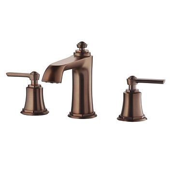 DAX-8259AC-ORB / DAX TWO HANDLE BATHROOM FAUCET, BRASS BODY, OIL RUBBED BRONZE FINISH, SPOUT HEIGHT 3-9/16 INCHES