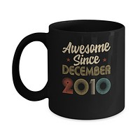 Awesome Since December 2010 Vintage 10th Birthday Gifts