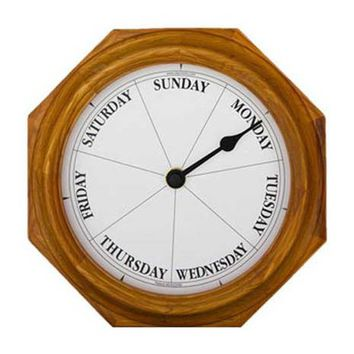 Classic Oak Day Clock
