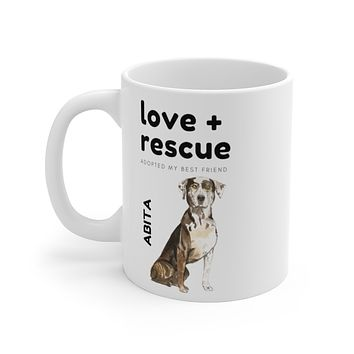love + rescue Mug — Catahoula