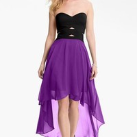 Hailey by Adrianna Papell Strapless High/Low Dress   Nordstrom
