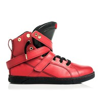 Red/Black Super Shift Hightop Bodybuilding Sneaker