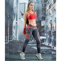 Women Sport Leggings 3D Print Football Capris Running Active Sportwear High Waist Pant Sexy Slim Hip Fitness Jogger Gym Jeggings