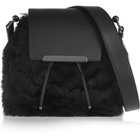 Christian Louboutin - Luckyl shearling and leather bucket bag