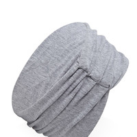 Wide Ruched Knit Headwrap