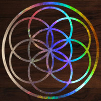Seed of life sacred geometry die-cut decal sticker 3x3 holograph edition