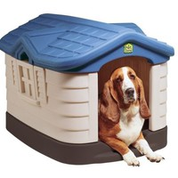 Small to Medium Insulated Dog House Outdoor All Weather Pet Shelter Plastic NEW