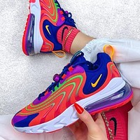 Nike Air Max 270 React Laser Crimson Men's and Women's Sneakers Shoes