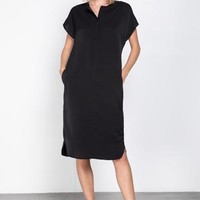 Woven Midi Tunic Dress